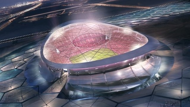An artistic impression of the Lusail Stadium