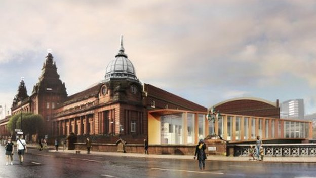 Digital image of the new Kelvin Hall
