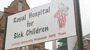 The Royal Hospital for Sick Children in Edinburgh