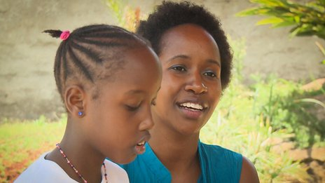 Faith Wambua and her daughter Sy