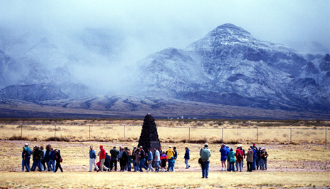 Trinity monument, New Mexico - site of the first atomic bomb explosion