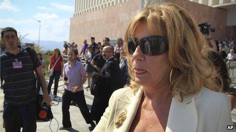 Former mayor of Marbella Marisol Yague leaves court in Malaga, Spain, 27 September, 2010
