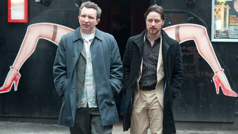 Eddie Marsan and James McAvoy