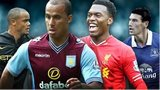 Vincent Kompany, Gabby Agbonlahor, Daniel Sturridge and Gareth Barry