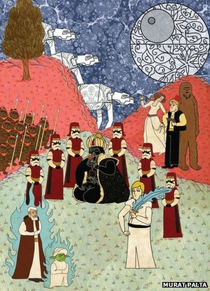 'Star Wars depicted as an Ottoman miniature' Murat Palta, 2011