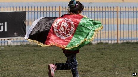 Child celebrates in Kabul