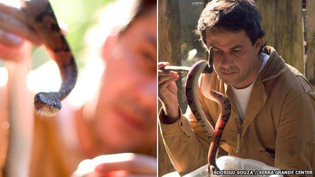 Rodrigo Souza with bushmaster