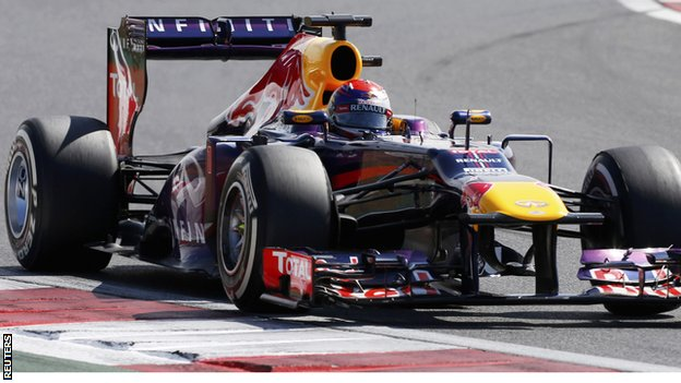 Sebastian Vettel during the third practice session of the Korean F1 Grand Prix