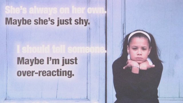 Childline charity poster