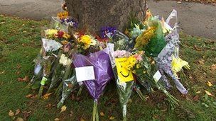 Flowers and tributes to Jamie McMahon
