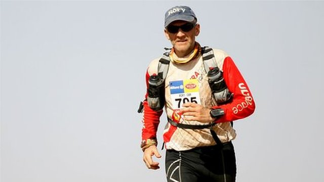 Rory Coleman during the Marathon des Sables