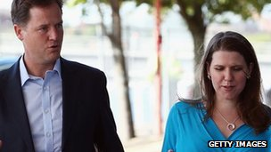 Nick Clegg and Jo Swinson