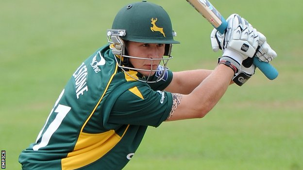 Scott Elstone playing for Notts