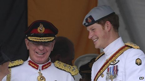 "Australia""s Chief of the Defense Force Gen. David Hurley and Prince Harry"