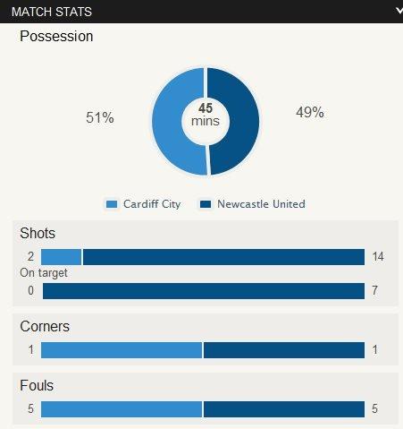 Cardiff 0-2 Newcastle