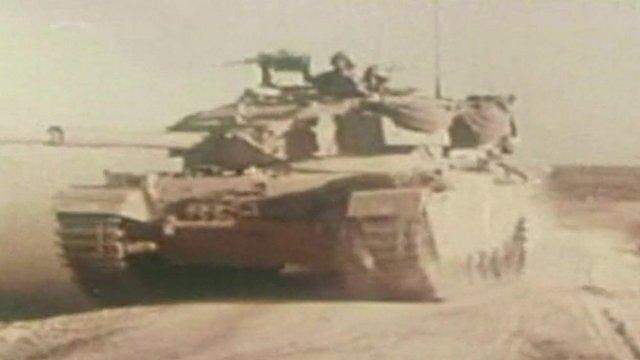 Tank on the Golan Heights