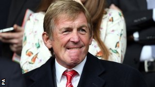 Kenny Dalglish in the Liverpool directors' box