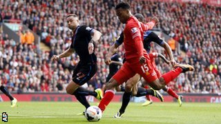 Daniel Sturridge scores Liverpool's second goal