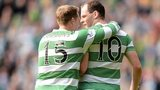 Anthony Stokes (right) was on target for Celtic