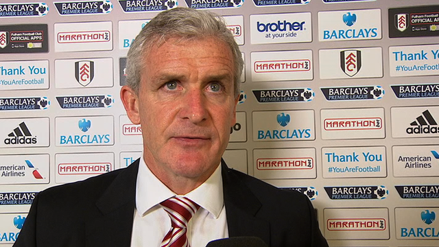 Stoke manager Mark Hughes