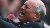 Fulham manager Martin Jol (right) celebrates his side's winning goal against Stoke