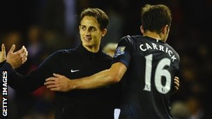 Adnan Januzaj and Michael Carrick