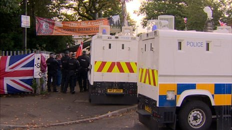 There has been a large security presence on the Woodvale Road in north Belfast