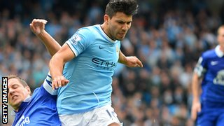 Manchester City striker Sergio Aguero