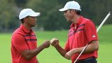 Tiger Woods (left) and Matt Kuchar