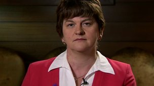 Arlene Foster said protests over parades must be peaceful
