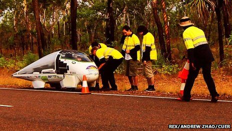 Rescue efforts after solar car Resolution crashes in Australia