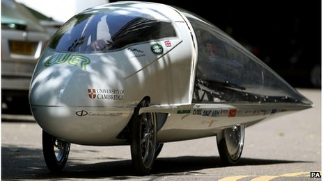 Resolution, Cambridge University's solar race car