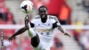Nathan Dyer in action for Swansea