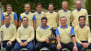 Europe's Seve Trophy winning team