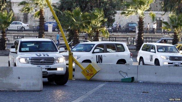 Un vehicles in Syria