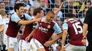 Winston Reid scores for West Ham at Tottenham