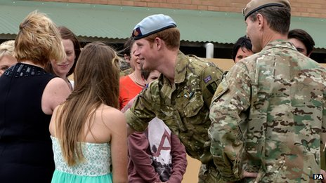 Families of SASR members killed on operations or in training meeting Prince Harry