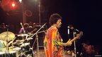 Jimi Hendrix at the Isle of Wight festival 1970