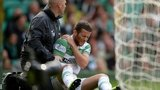 Adam Matthews in pain against Motherwell