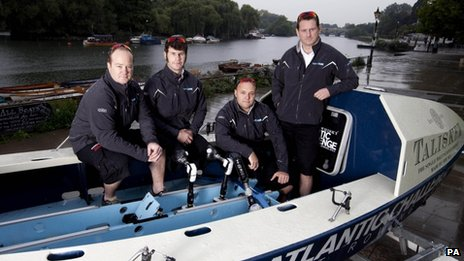 Captain James Kayll, Cayle Royce, Scott Blaney and Cpt Mark Jenkins, from the Row2Recovery team