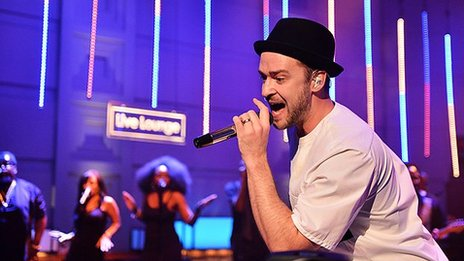 Justin Timberlake in the Live Lounge for Radio 1