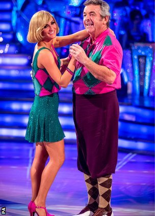 Tony Jacklin competing in Strictly Come Dancing 2013