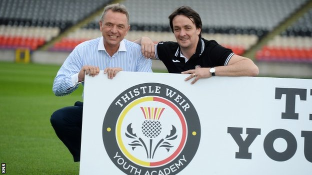 Partick Thistle chairman David Beattie and academy director Gerry Britton