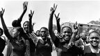 Schoolgirls at the Soweto uprising in 1976