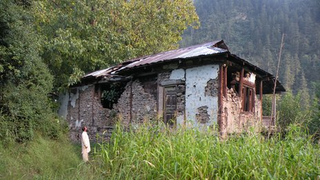 Ruined house in the Neelum valley