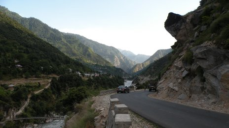The pass connecting the Neelum valley to the outside world