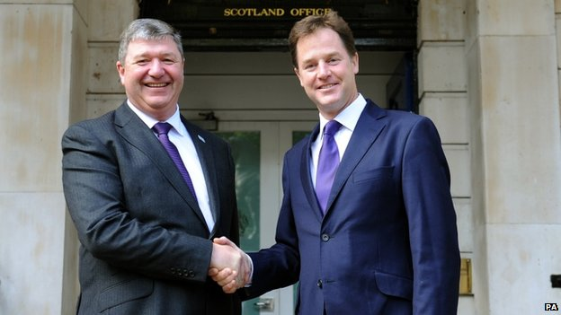 Alistair Carmichael and Nick Clegg