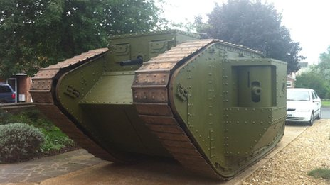 Mark 4 World War I tank replica