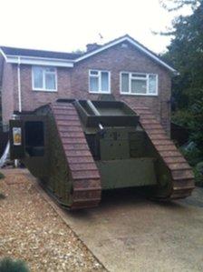Mark IV World War I tank replica