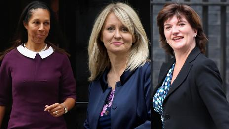 Helen Grant, Esther McVey and Nicky Morgan (left to right)